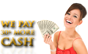 We pay 30% more cash